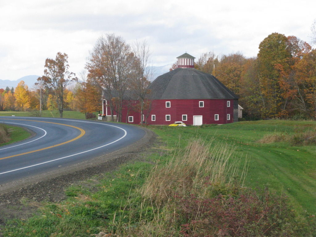 Exquisitely Restored Round Barn on Rt. !2
