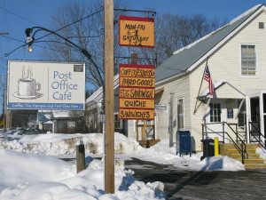 Post Office Cafe Winter in Worcester Vermont
