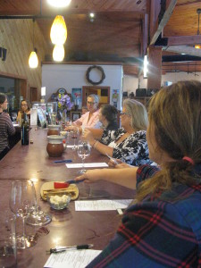 Wine tasting at Fresh Tracks Farm and Winery